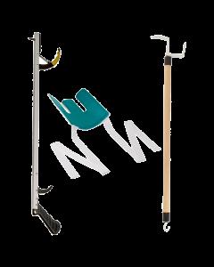Sammons Preston Assistive Device Kit – Dressing Stick, Flexible Sock Aid, Reacher