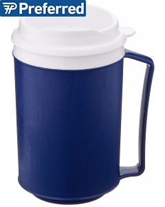 Insulated Mug with Lid - Tumbler Lid - Blue - 12 oz.
