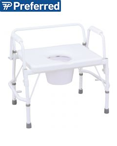 Tuffcare Drop Arm All in One Bariatric Commode