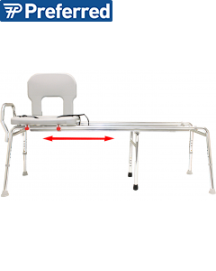Toilet-to-Tub Sliding Transfer Bench (XX Long)