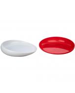 Round Scoop Dish side view, blue